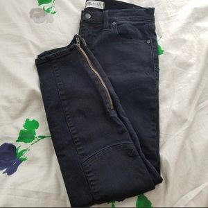 Madewell Moto style skinny jeans